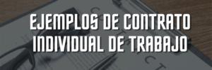 Ejemplos de contrato individual de trabajo en PDF